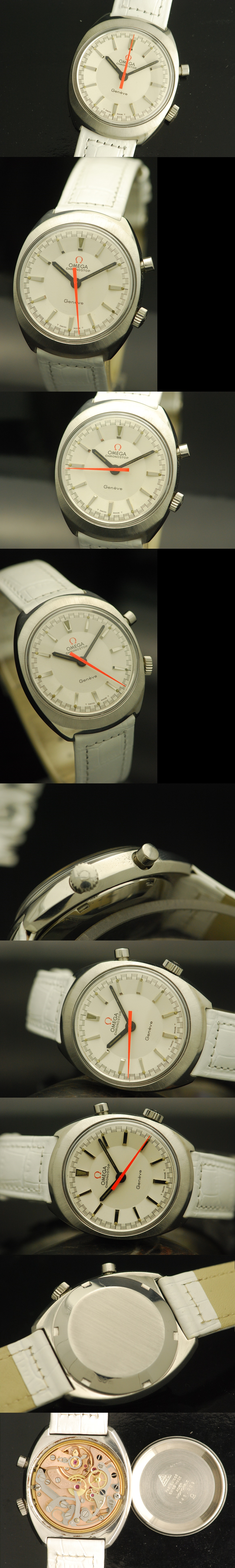 1968 Omega Chronostop Geneve White dial Gent's Watch Vintage